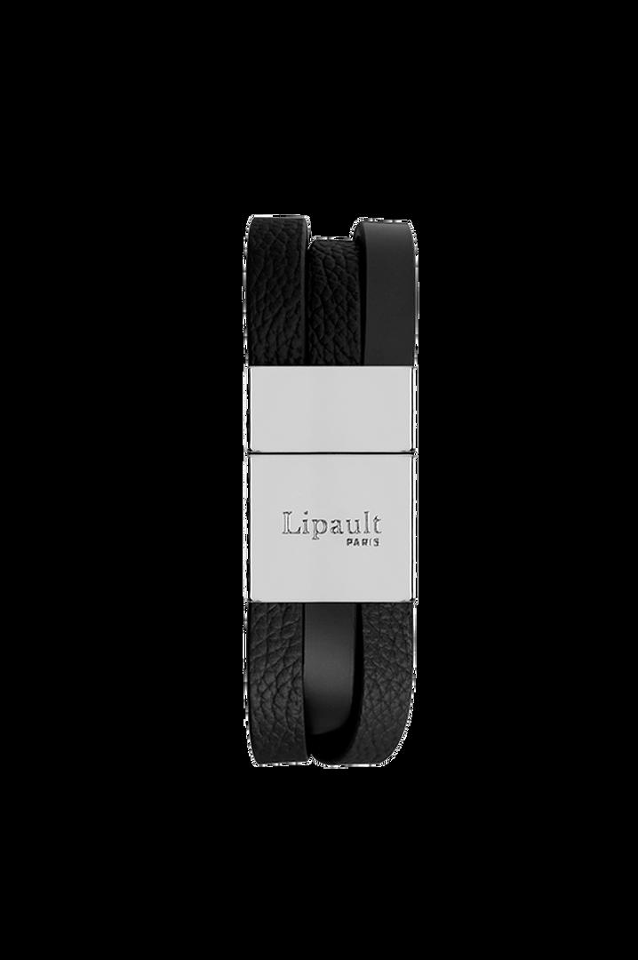 Plume Elegance Bracelet Noir   2