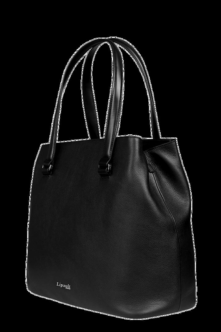 Plume Elegance Sac shopping L Noir   3