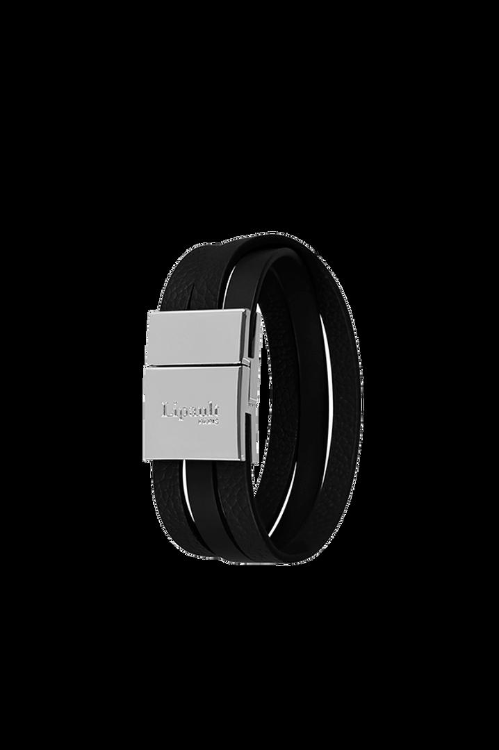 Plume Elegance Bracelet Noir   1