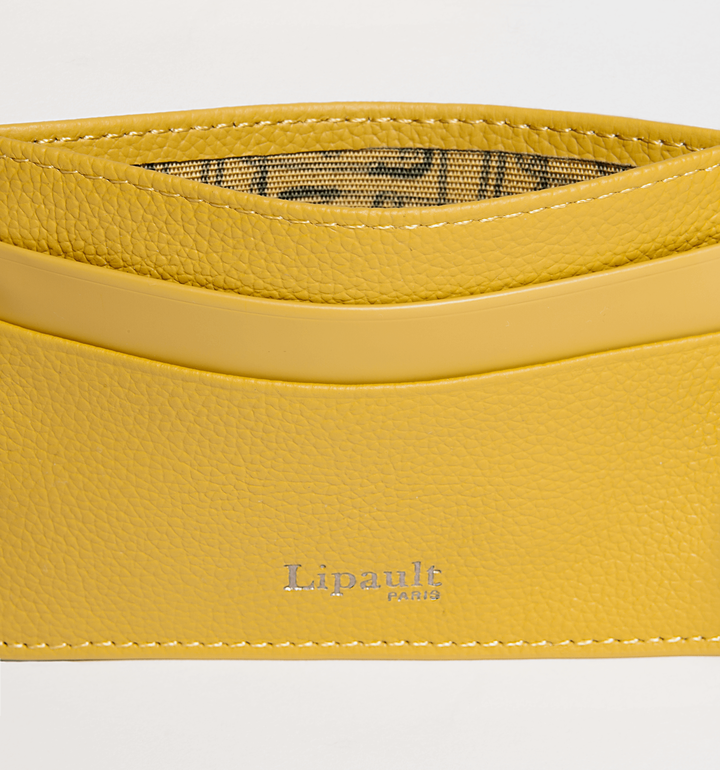 Plume Elegance Creditcardhouder Mustard | 2