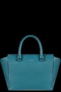 Plume Elegance Sac à main Satchel Bleu Canard