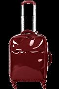 Plume Vinyle Valise 4 roues 55cm Rouge