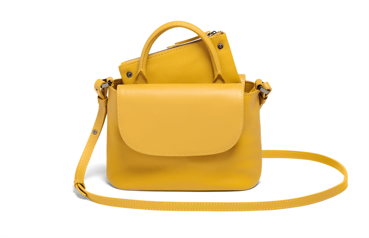 Plume Elegance Handtas Mustard | 5